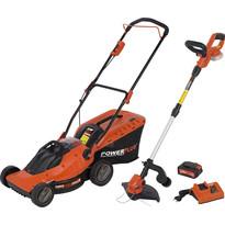 Tondeuse + Coupe-bordures + Chargeur + Batterie POWSPG7562