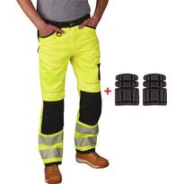 Pantalon de travail poches genouillères Portwest Hi-Vis + protèges genoux