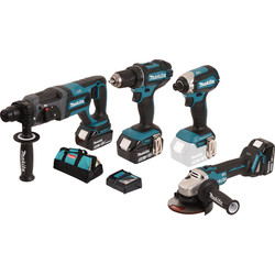 makita Combiset Makita DLX4080TX1 18V Li-Ion 5Ah - 13546 - de Toolstation