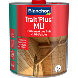 Blanchon Traitement bois Blanchon Trait'Plus MU 5L Incolore - 14246 - de Toolstation