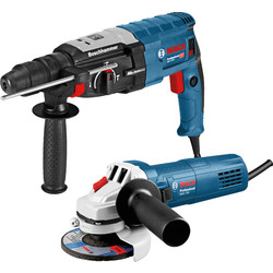 Bosch Combiset Perforateur GBH 2-28F 880W + Meuleuse GWS 750 Bosch SDS-plus - 14950 - de Toolstation