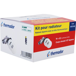 Kit thermostatique tête + corps 1/2 équerre Thermador