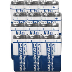 Panasonic Pile alcaline Panasonic Powerline 9V 6LR61 - 24255 - de Toolstation