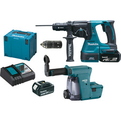 Makita Perfo-burineur sans fil Makita DHR243RTJW 18V - Li-Ion 5Ah - SDS+ - 25662 - de Toolstation