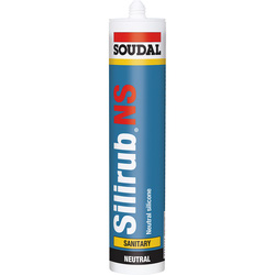 Soudal Mastic Silicone Soudal Silirub 2S - NS Transparent 300ml - 28137 - de Toolstation