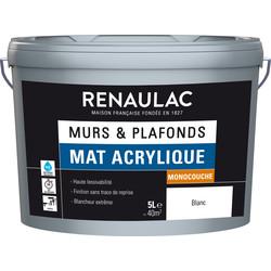 Peinture murs et plafonds Renaulac mat acrylique