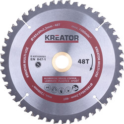 Kreator Lame de scie universelle HM 185mm 48T - 35142 - de Toolstation