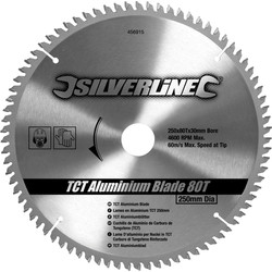 Silverline Lame carbure TCT aluminium 250x30/25/20/16mmx80T - 38247 - de Toolstation