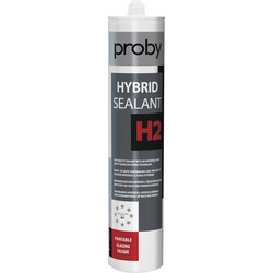 Proby Mastic de vitrier H2 Blanc 290ml - 41656 - de Toolstation