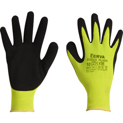 Cerva Gants nylon et latex 10/XL - Jaune - 41663 - de Toolstation