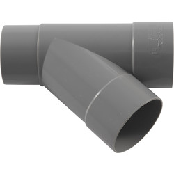 Pipelife Té PVC 45° Ø80mm,FF - 43083 - de Toolstation