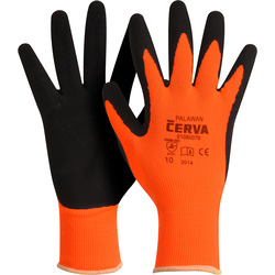 Cerva Gants nylon et latex 10/XL - Orange - 43258 - de Toolstation