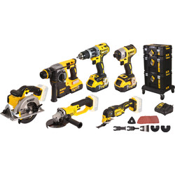 DeWALT Pack 6 machines sans fil DeWalt DCK654P3T-QW 18V XR Li-ion - 43416 - de Toolstation