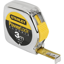 Stanley Mètre à ruban Stanley PowerLock 3m - 12,7mm - 47738 - de Toolstation