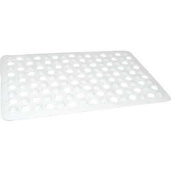 Tapis de bain 380x600mm - blanc - 47768 - de Toolstation
