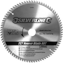 Silverline Lame carbure TCT 250x30 25/20/16mmx80T - 51724 - de Toolstation