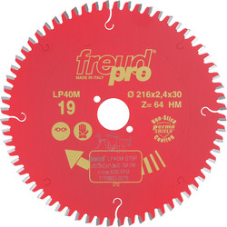 Freud Lame scie circulaire Freud pro LP40M 216x30mm 64dts - 56248 - de Toolstation