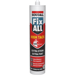 Soudal Mastic Soudal Fix All High Tack 290ml Blanc - 63736 - de Toolstation