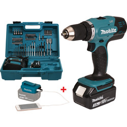 Makita Perceuse visseuse 18V Li-Ion Makita 2x 3Ah Ø 13mm - 66053 - de Toolstation