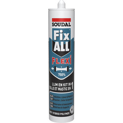 Soudal Mastic colle Soudal Fix All Flexi 290ml Blanc - 66747 - de Toolstation