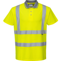 Portwest Polo Hi-Vis Portwest M jaune - 68051 - de Toolstation