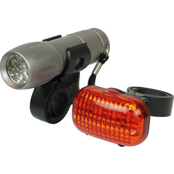 Ensemble Eclairage vélo 9 LED - 75635 - de Toolstation