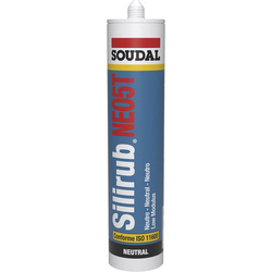 Soudal Mastic silicone Soudal Silirub NO5 - SNJF 300ml Transparent - 76680 - de Toolstation