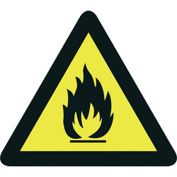 Pictogramme danger Inflammables 200mm - 88458 - de Toolstation
