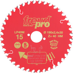 Freud Lame scie circulaire Freud pro LP40M 190x30mm 40dts - 88991 - de Toolstation