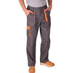 Portwest Pantalon poches genouillères Portwest Texo L gris/orange - 90426 - de Toolstation