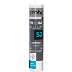 Proby Mastic joint silicone S2 Blanc 280ml - 95120 - de Toolstation