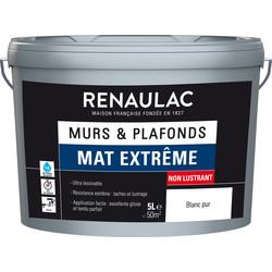 Peinture murs et plafonds Renaulac mat extrême