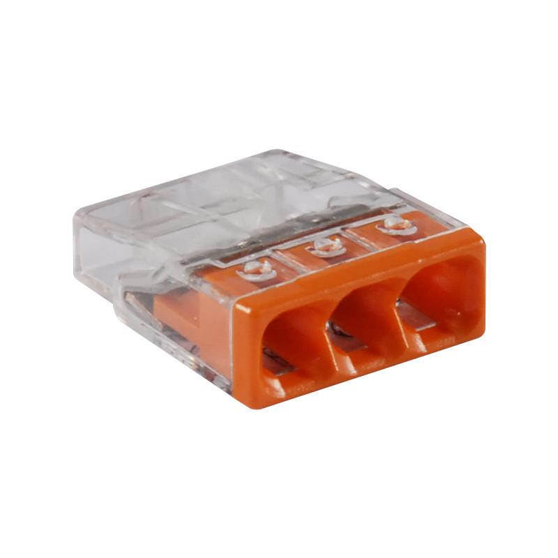 borne automatique wago 3v 0 5 2 5mm orange. Black Bedroom Furniture Sets. Home Design Ideas