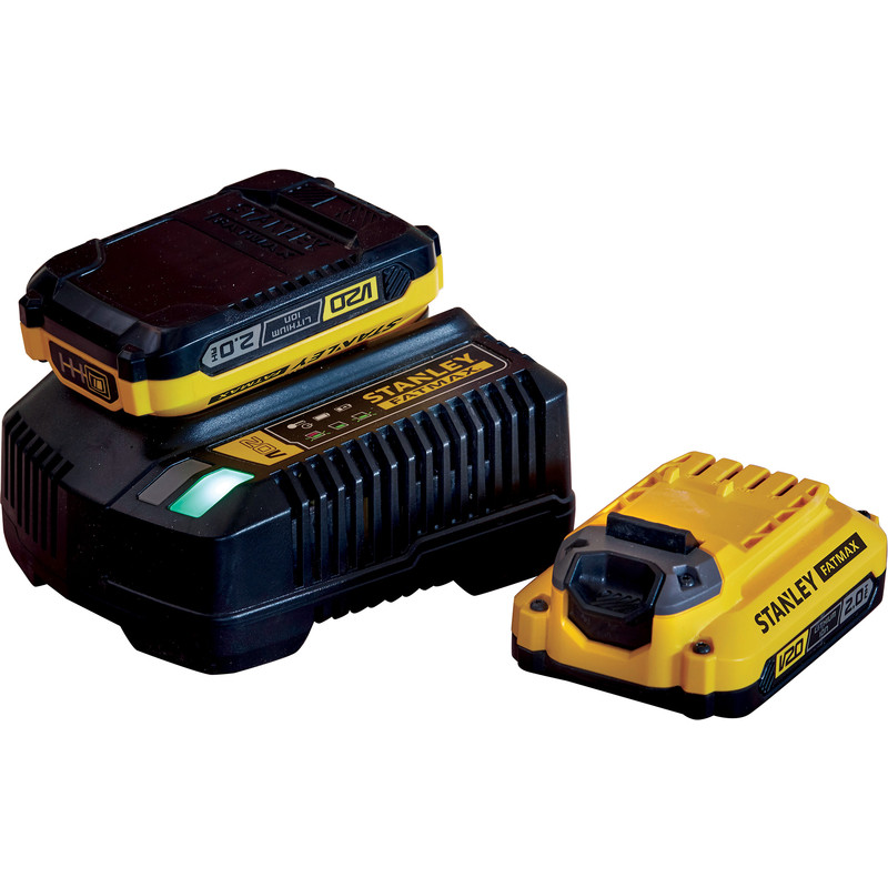 Kit chargeur + 2 batteries Stanley FatMax V20 Li-Ion