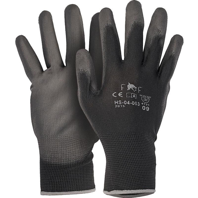 12 paire pu travail gants taille 7 Montage Gants Gants de jardin noir