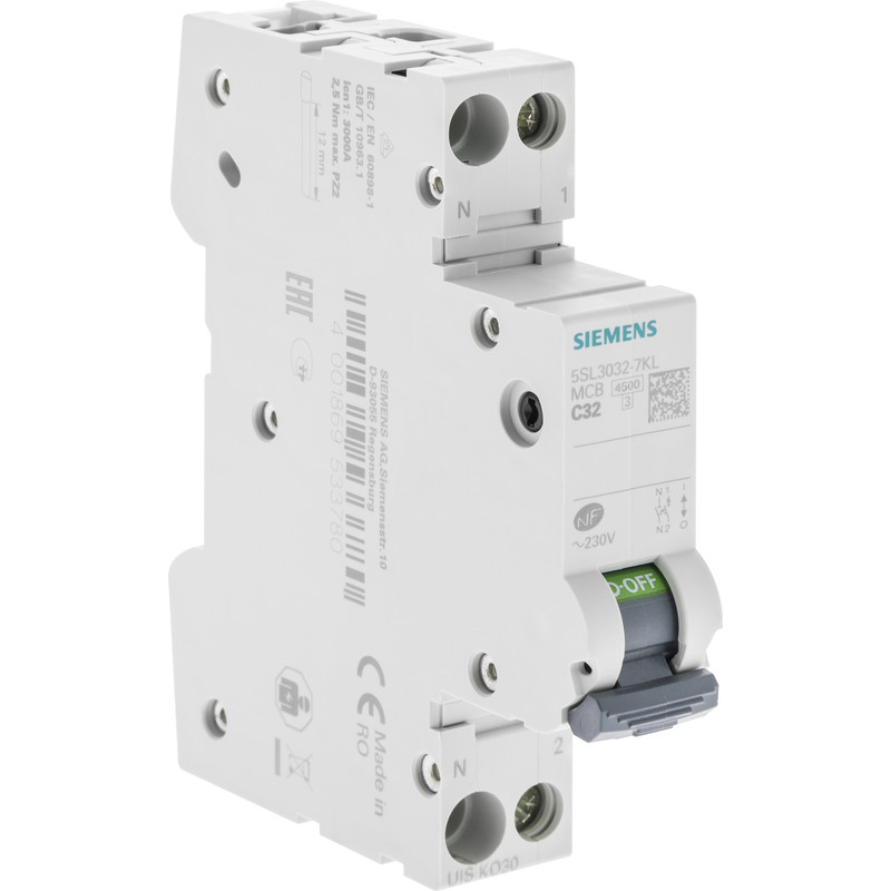 Disjoncteur peignable Siemens