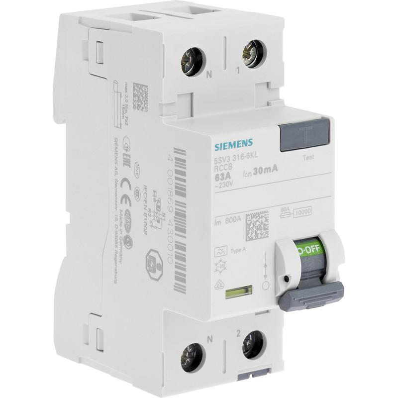 Interrupteur différentiel peignable Siemens
