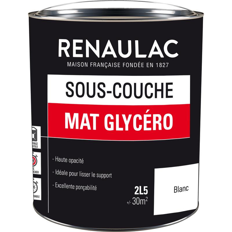 Sous-Couche Renaulac Mat Glycéro Blanc 2,5L