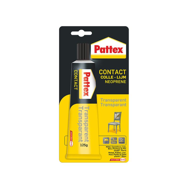 Colle contact Pattex transparente
