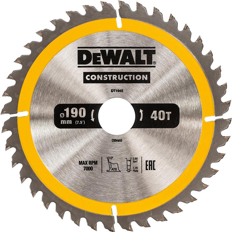 Lame de scie circulaire DeWalt DT1945-QZ